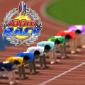 Race against your opponents, trying to win the gold in a 100m dash!