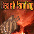 You control the machine guns & heavy canons in defense of the beach.