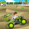 Help Ben 10 drive his armed ATV and kill all the Alien Zombies.