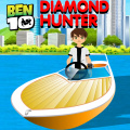 Help Ben 10 avoid the dangers and collect the diamonds on the river.