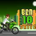 Help Ben 10 on a motorcycle ride, keep him balanced over many obstacles.