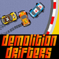 A combination of a demolition derby and a racing game.