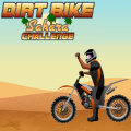 Ride through the hot desert on your motorbike.