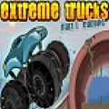 Drive monster trucks through extreme environments.