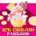 Working at an ice cream parlour, fill your customers orders.
