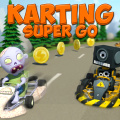 A cartoon karting game with pirates, ninjas, robots, cowboys & aliens.