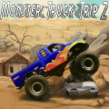 Drive your monster truck thru the desert, collect stars & crush cars.
