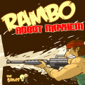 Rambo taking out an army of robots in this first-person shooter.
