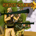 Eliminate the soldiers by launching rockets at their post.