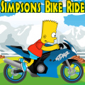 Help Bart tame this motorbike by taking a ride.