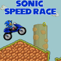 Help Sonic drive his moto and get all the rings on the way.