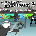 An epic game of badminton with stick figures!