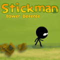 Place towers in strategic places to stop stickmen from reaching the exit