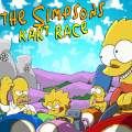 Race as either Homer, Bart, Lisa or Marge.